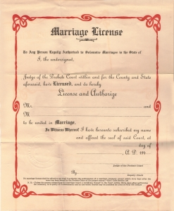 a marriage certificate could be used to show a living heir